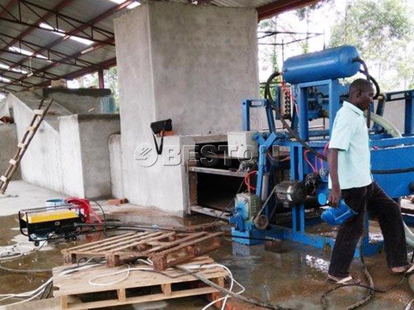 Beston Egg Tray Making Machine in Uganda