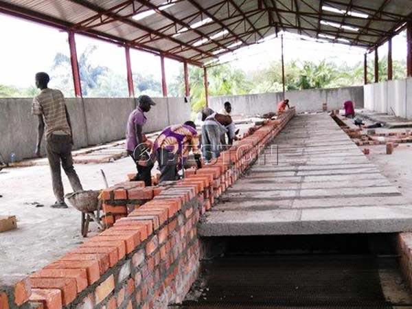 Installing Brick Egg Tray Drying Line in Uganda