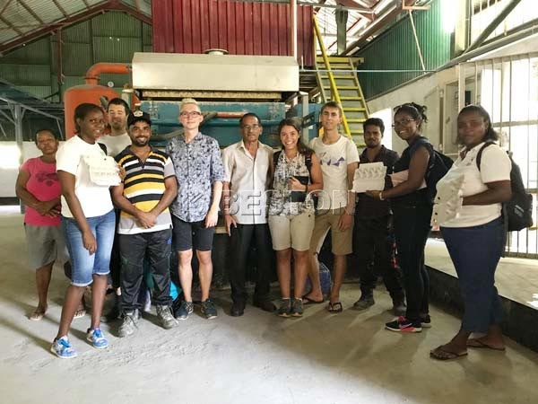 Switzerland University Students Visited Egg Tray Machine