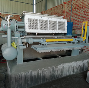 Egg Tray Making Machine Installed in India