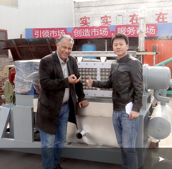 Egypt Customer Purchased Egg Tray Making Machine