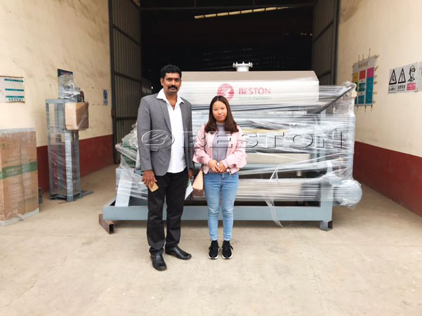 India Customer Buy 2500pcs Egg Tray Machine