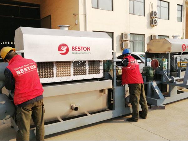 2500pcs Egg Tray Making Machine to India
